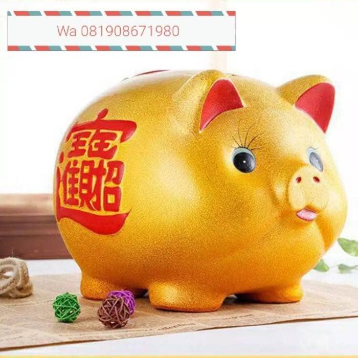 harga Celengan babi gold piggy bank besar Tokopedia.com