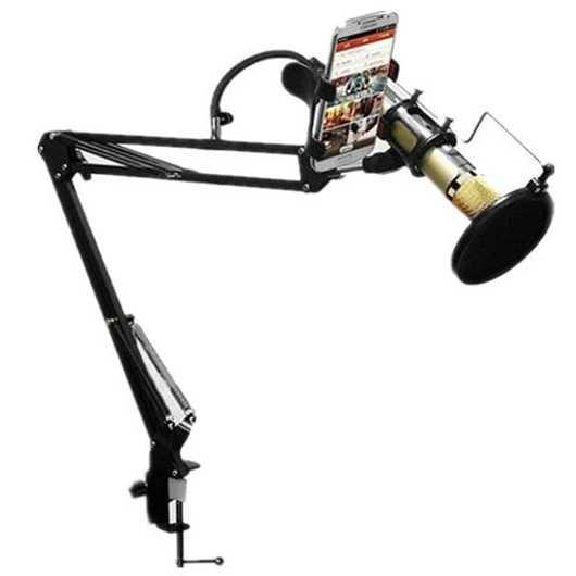harga Mic hp microphone smartphone lazypod stand holder audio pop filter 360 Tokopedia.com