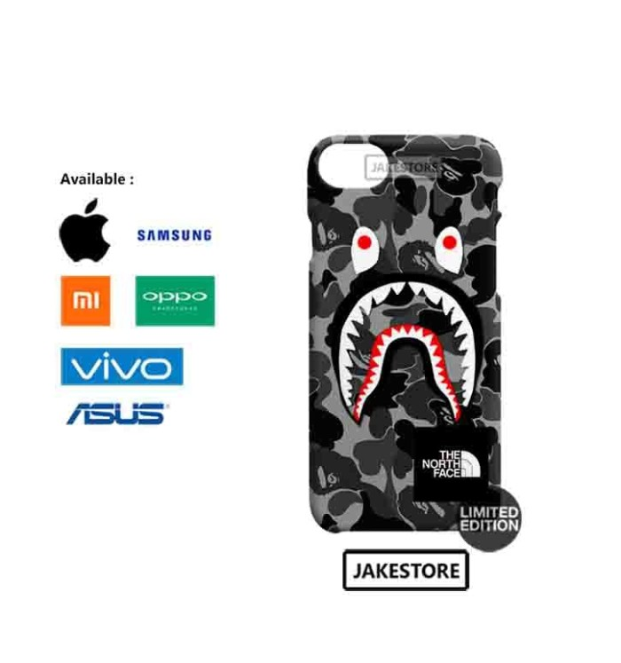 harga Case iphone 5 5s se bape shark camo pattern the north face hardcase Tokopedia.com