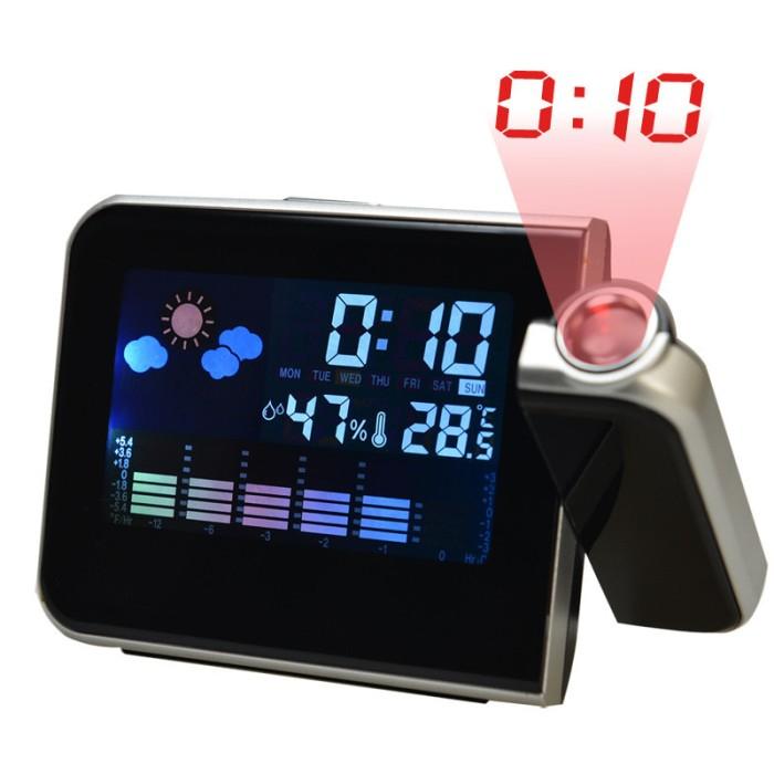 harga Digital alarm clock with calendar humidometer thermometer projection Tokopedia.com