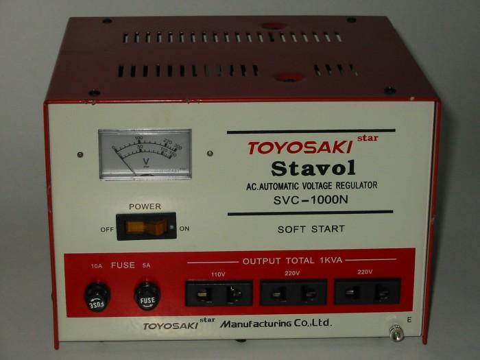 harga Toyosaki svc1000n stabilizer auto return - automatic voltage regulator Tokopedia.com