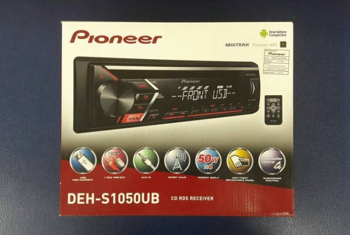 harga Pioneer deh-s1050ub | single din | cd mp3 player | pioneer Tokopedia.com