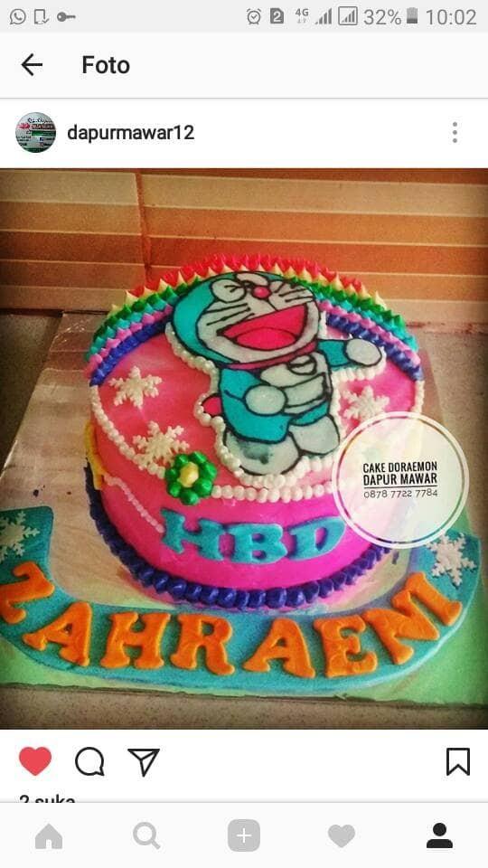 Jual Kue Ulang Tahun Birthday Cake Cake Karakter Doraemon
