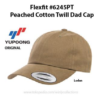 Jual Topi Flexfit 6245PT Peached Cotton Twill Dad Cap Yupoong ... d3918d3504