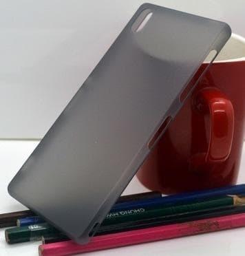 Case Sony Xperia Z3 Big AU - Docomo Hard Case Hitam Transparan