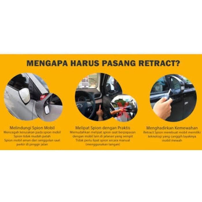 Spion Lipat Elektrik Otomatis Mobil Auto Retract Mirror Kit El