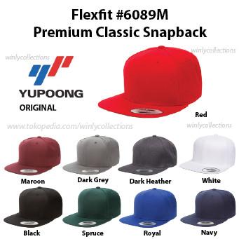64f21f41e8543f Jual Topi Flexfit Premium Classic Snapback 6089M ORIGINAL 100% - DKI ...