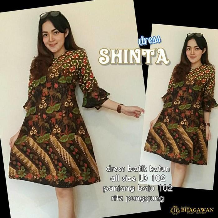 Jual Dress Batik Shinta Dress Batik Lengan Panjang Dress Batik Modern Fahio Kota Surakarta Atasan Dress Kebayabatik Tokopedia