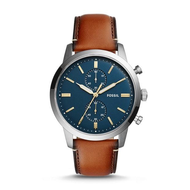 jam tangan pria fossil townsman chronograph luggage leather fs5279