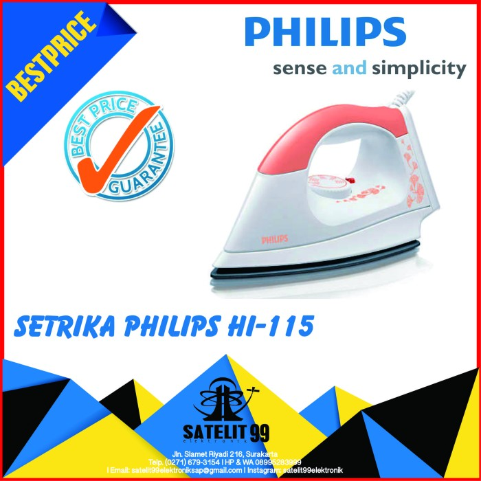 Setrika Philips Hi 115 Harga Tokopedia