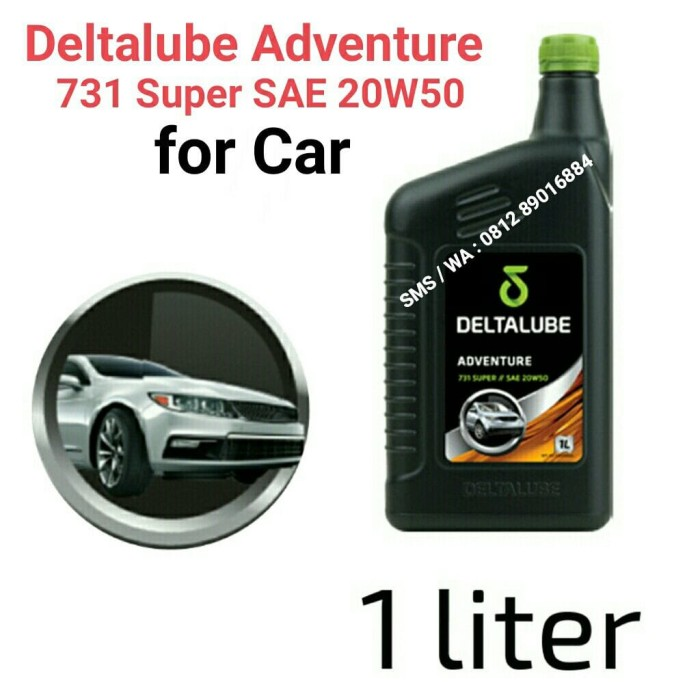 harga Deltalube adventure 731 super sae 20w50 kemasan 1 liter Tokopedia.com