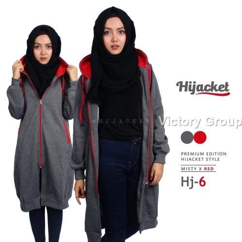 Sweater Jaket Cewek Wanita Hijab Jilbab Hijacket MIsty x Red   HJ6 2c5cdf7983