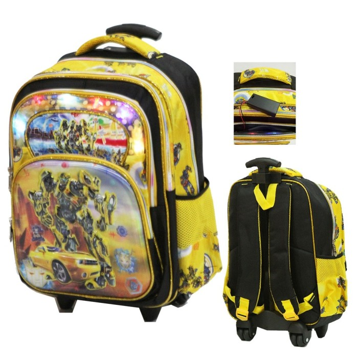 Tas Lampu Anak Trolley SD Transformers Bumble Bee 5D 4 KT - Yellow