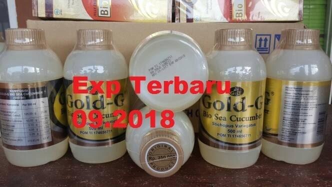 obat herbal alami Jelly Gamat Gold G sea cucumber 500 ml / 500ml asli