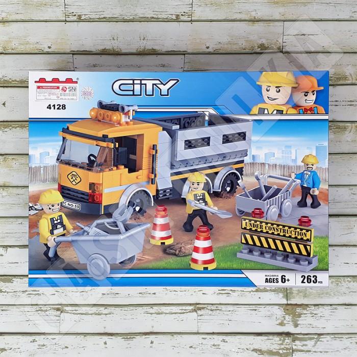 Jual Lego City Brick Cogo 4128 Under Construction Truck Casa