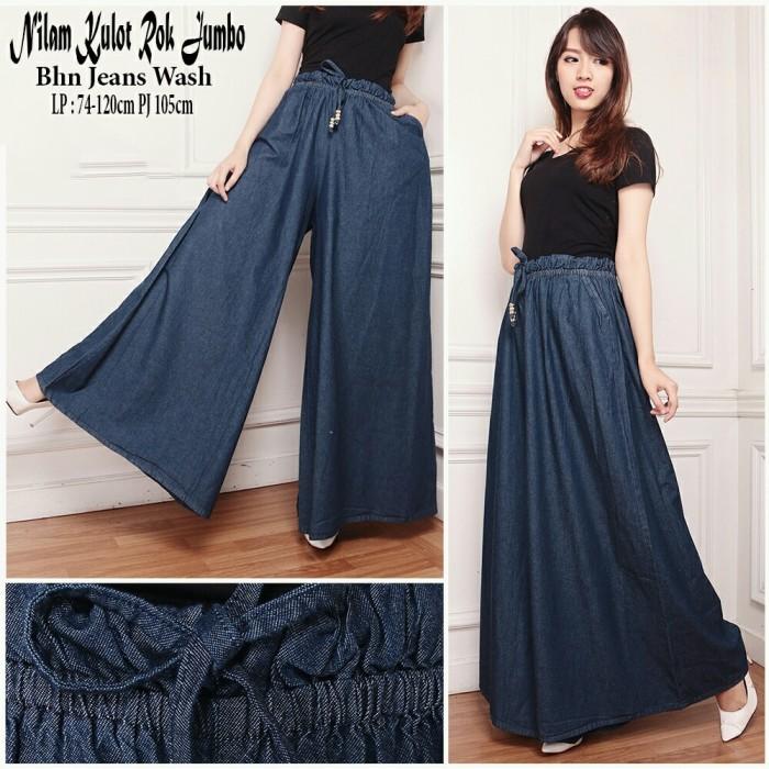 harga Sb collection celana panjang adara kulot jeans rok jumbo wanita Tokopedia.com