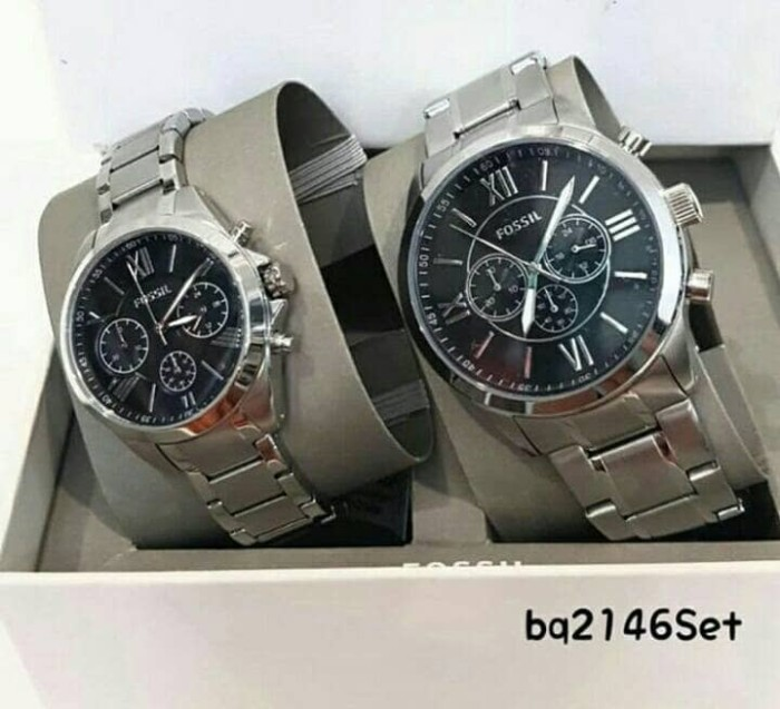 Jual Jam Tangan Couple Fossil Bq2146set Original