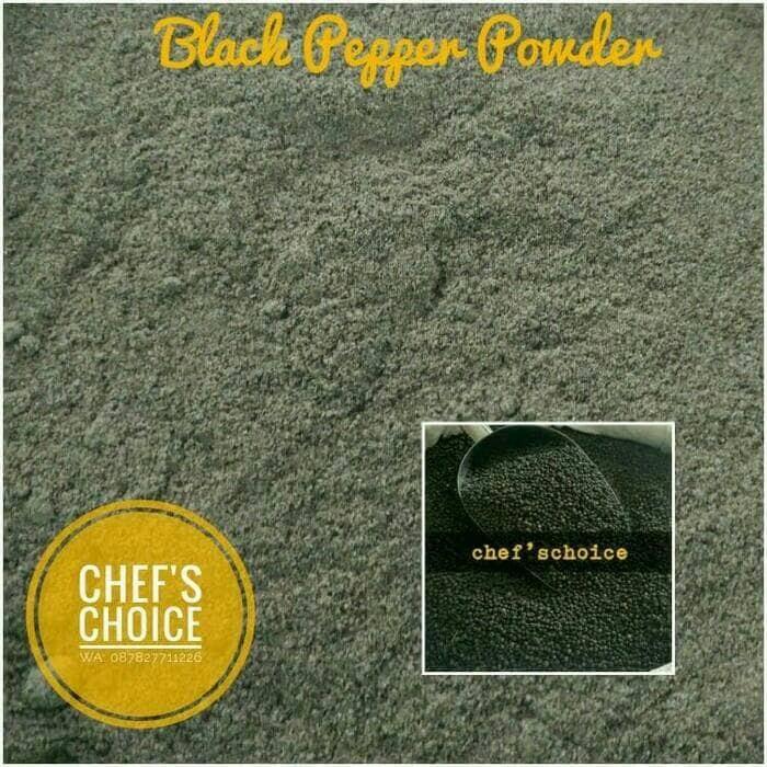 Black pepper powder pure 100%/ lada hitam bubuk 500 gram