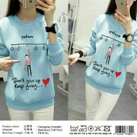 harga Aop sw sweater hanging biru gantung / baju wanita blouse kaos atasan Tokopedia.com