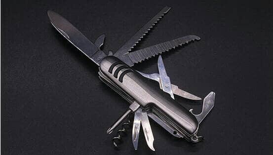 Swiss Army Knife 11 Tools/ Pisau Lipat Multifungsi