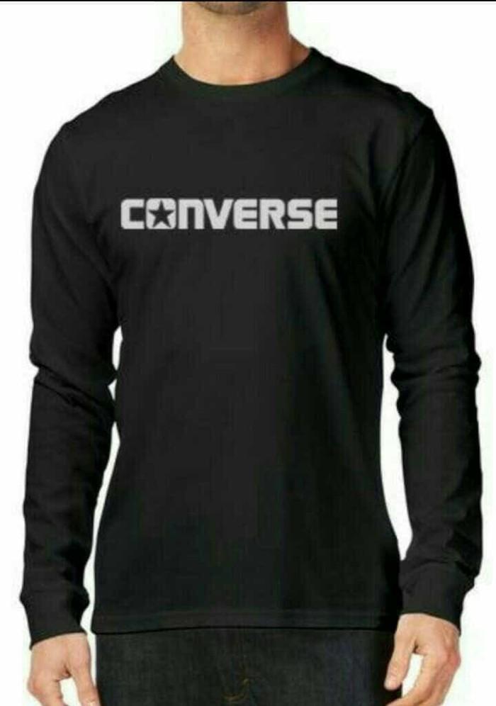 Jual Tshirt Kaos lengan panjang Converse Baju - AMOROSO  5c5cafff0d