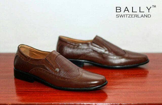 harga Sepatu casual pria pantofel bally slop coklat kulit Tokopedia.com