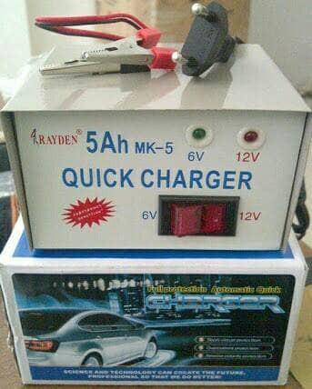 harga Rayden charger aki 5 a 5ah 6v 12v accu basah kering motor mobil mainan Tokopedia.com