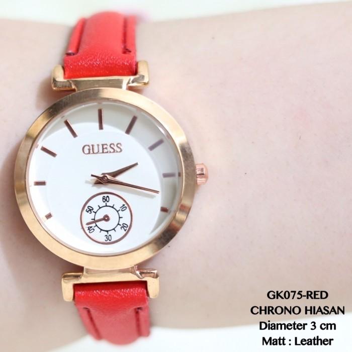harga Jam tangan guess wanita/cewek kulit leather fossil murah grosir rolex Tokopedia.com