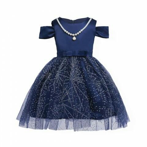 harga Dress brokat biru baju pesta anak perempuan Tokopedia.com