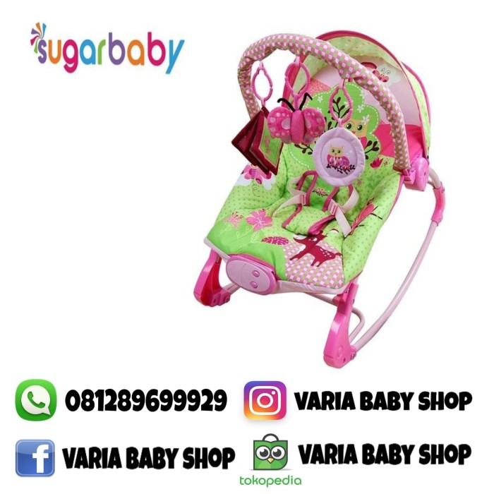 harga Sugar baby bouncer premium rocker owl 10 in 1 Tokopedia.com