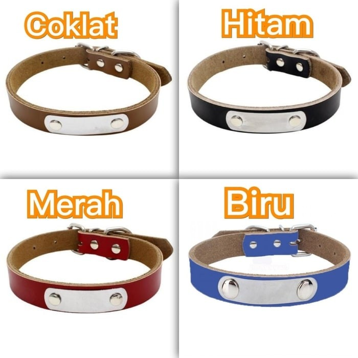 harga Pet dog cat collar kalung anjing puppy kucing tag id nama 1.5cm Tokopedia.com