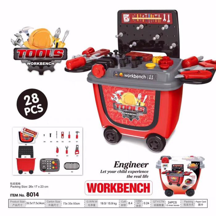 harga Mainan perkakas konstruksi alat tukang tools workbench set engineer Tokopedia.com
