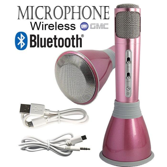 harga Gmc teckyo karsis microphone wireless with speaker karaoke smule sing Tokopedia.com