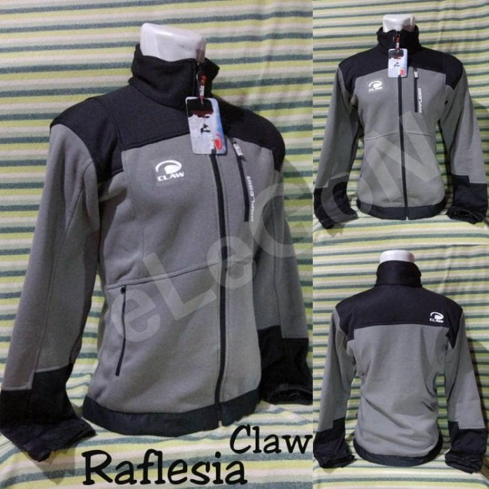 Jaket hiking gunung polar claw raflesia grey-black asli resmi