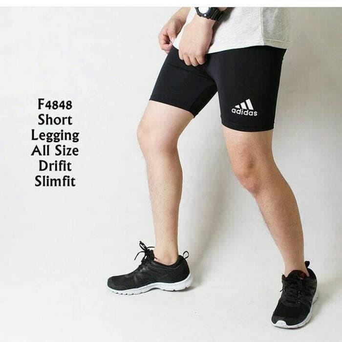Jual Sale Celana Legging Pendek Pria Sport Gym Fitnes Adidas Jakarta Pusat Cbrshop Tokopedia