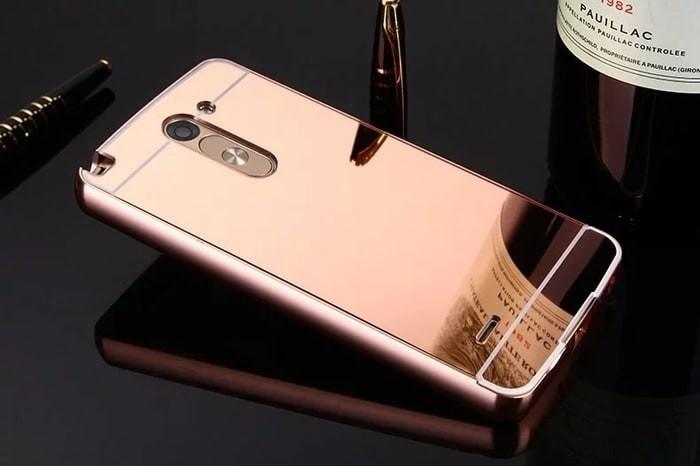 Hard case cover aluminum metal bumper mirror casing lg g3 stylus