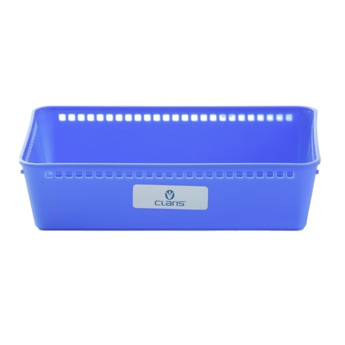 CLARIS Kotak penyimpanan Nampan, Biru - MESH - Besar