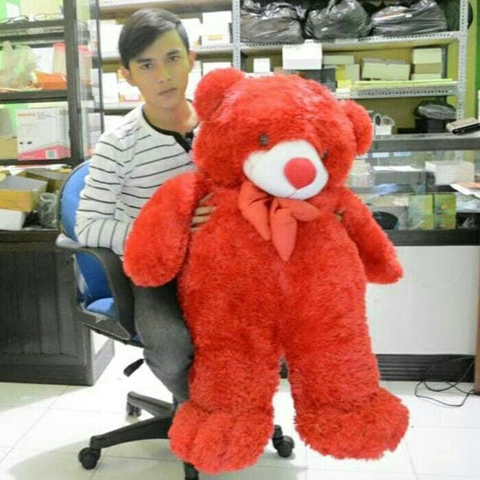 harga Boneka teddy bear jumbo pita merah uk.100cm Tokopedia.com