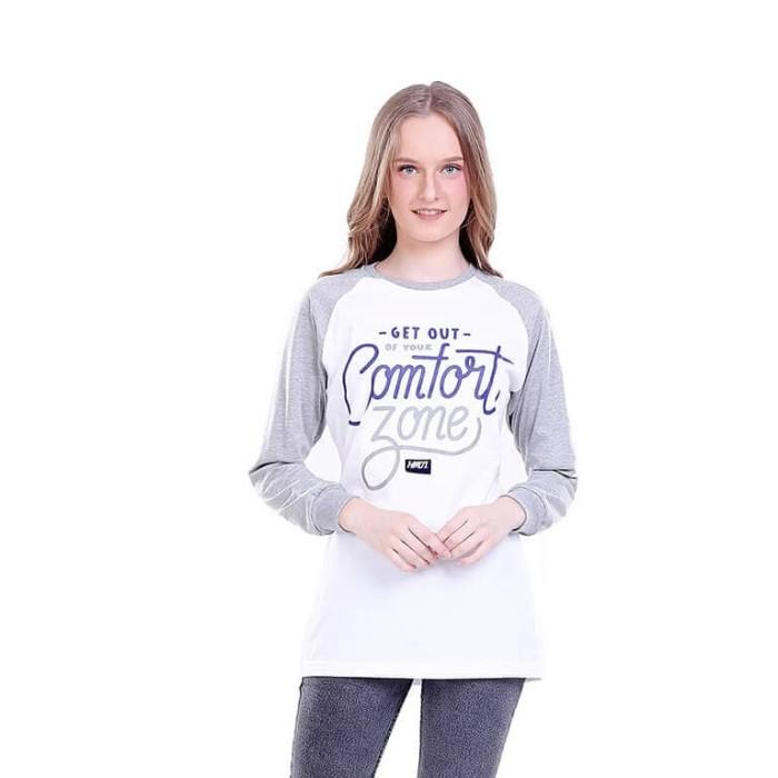 ... harga Baju atasan kaos lengan panjang wanita cewek cewe putih komb h 0285 hn Tokopedia.