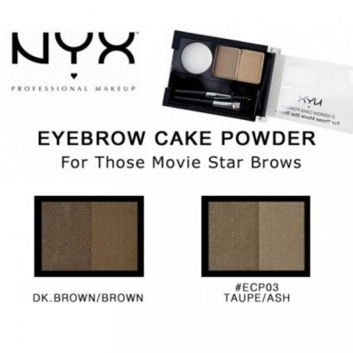 harga Nyx eyebrow cake powder dark brown Tokopedia.com