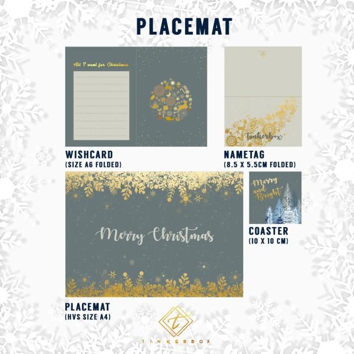 harga Placemat set natal / christmas / name tag / wish card / coaster Tokopedia.com