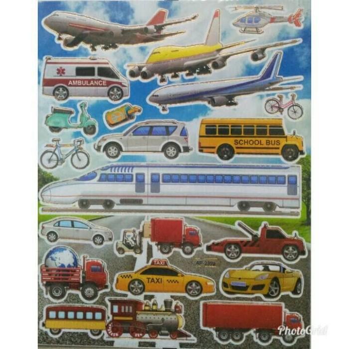 Jual Sticker Stiker Anak Alat Transportasi Kodomo Edutoys Tokopedia