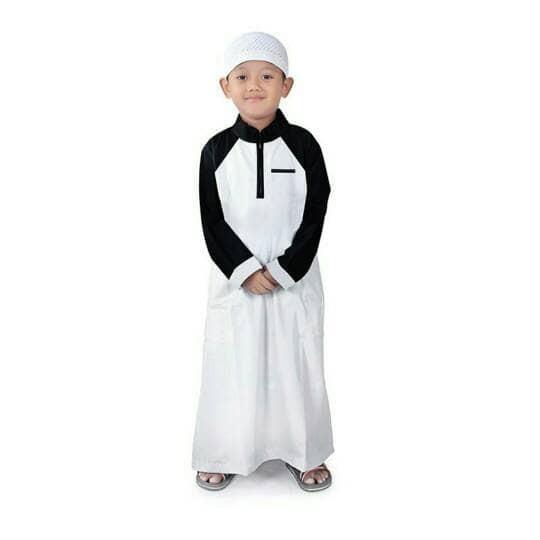 Baju koko anak laki - laki . baju takwa panjang anak .baju muslim .