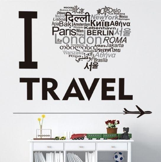 Love Travel JM8378 - Stiker Dinding / Wall Sticker (50x70