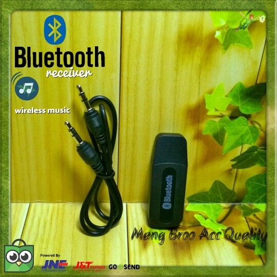 Bluetooth USB Wireless Music Receiver Audio/Penerima Musik/ Received - Hitam