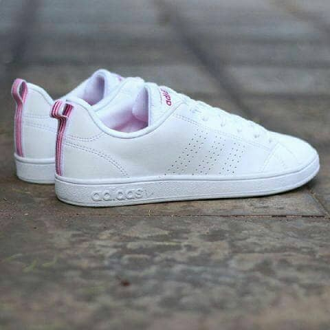 Jual adidas neo advantage clean white pink original bnwb ... 44f0d89535