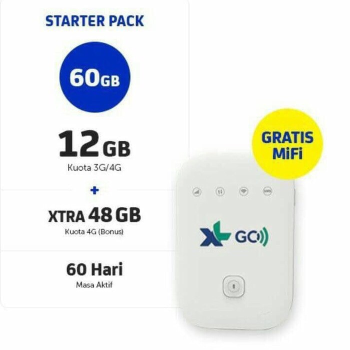 harga [best seller] modem mifi xl go wifi 4g mv003 movimax plus perdana 60gb