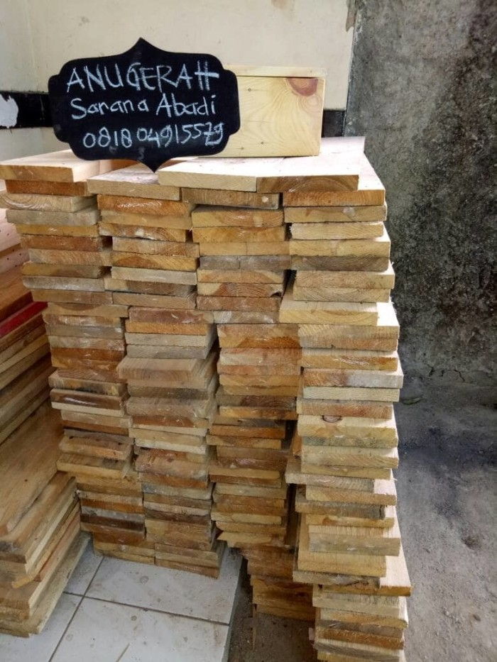Papan Kayu Jati Belanda Uk 100x14x2cm Pallet Murah Bekas Palet