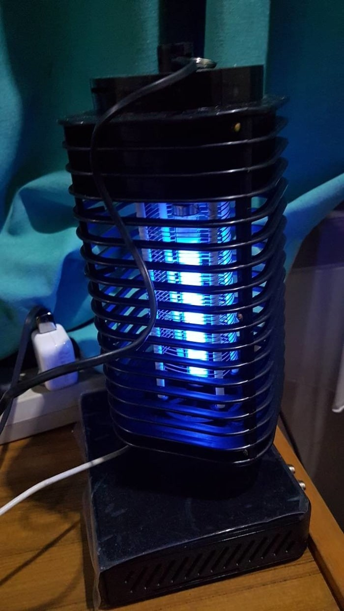 Promooelectric Mosquito Killer Perangkap Nyamuk Lampu Anti Mediatech Uv Biru 69953 Led Lamp Grade A