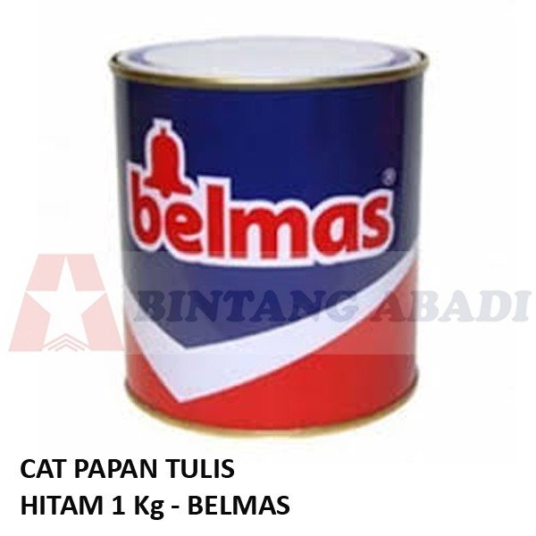 harga Belmas cat papan tulis hitam kaleng 1 kg - untuk kayu / besi / tembok Tokopedia.com